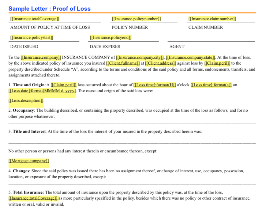 Insurance Claim Letter Sample from claimwizard.com